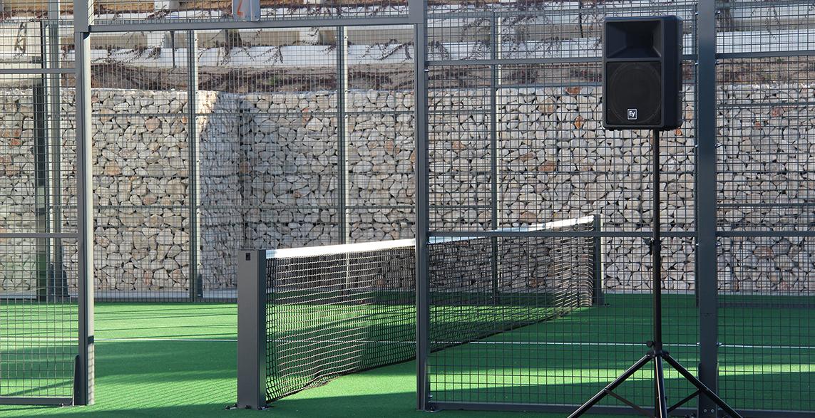 instalaciones megafonía y microfonía en club deportivo