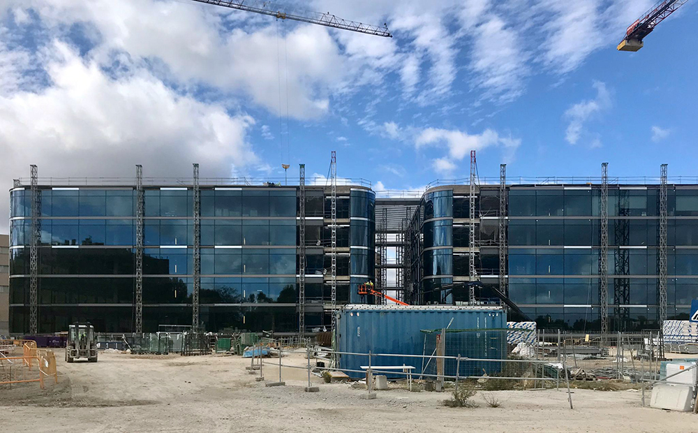 Edificio Iberdrola, sistema de seguridad exterior e interior.